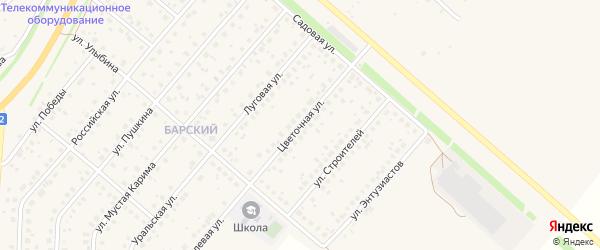 Цветочная улица на карте села Краснохолмского с номерами домов