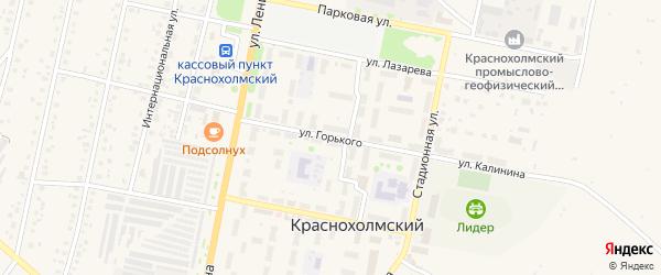 Улица Горького на карте села Краснохолмского с номерами домов