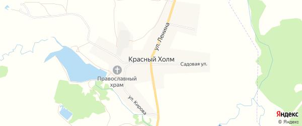 Карта села Красного Холма в Башкортостане с улицами и номерами домов