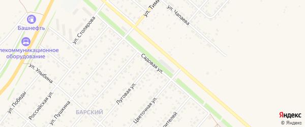 Садовая улица на карте села Краснохолмского с номерами домов