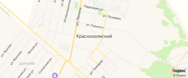 Карта села Краснохолмского в Башкортостане с улицами и номерами домов