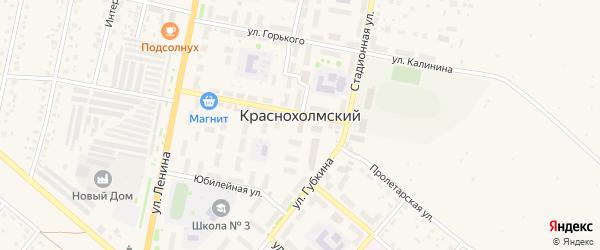 Комсомольская улица на карте села Краснохолмского с номерами домов