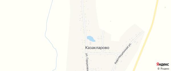 Улица Горшкова на карте села Казакларово с номерами домов