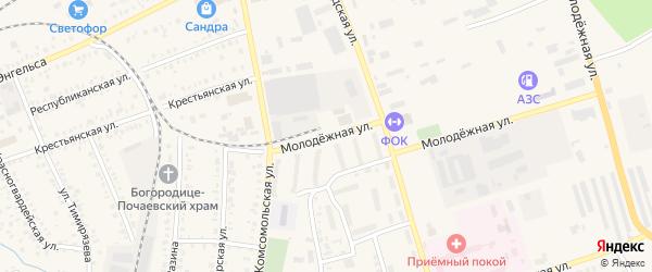Молодежная улица на карте Давлеканово с номерами домов