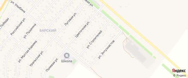 Улица Строителей на карте села Краснохолмского с номерами домов