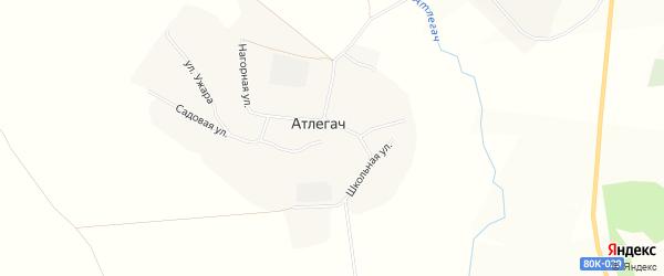 Карта села Атлегача в Башкортостане с улицами и номерами домов