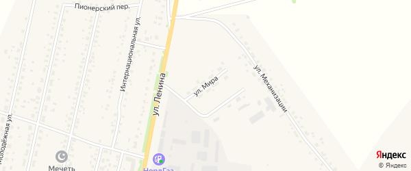 Улица Мира на карте села Краснохолмского с номерами домов