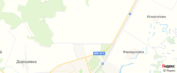 Карта Курманкеевского сельсовета республики Башкортостан с районами, улицами и номерами домов