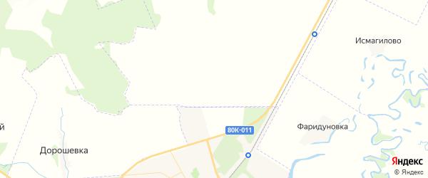 Карта Шестаевского сельсовета республики Башкортостан с районами, улицами и номерами домов