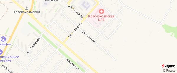 Улица Чапаева на карте села Краснохолмского с номерами домов