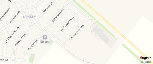 Улица Энтузиастов на карте села Краснохолмского с номерами домов