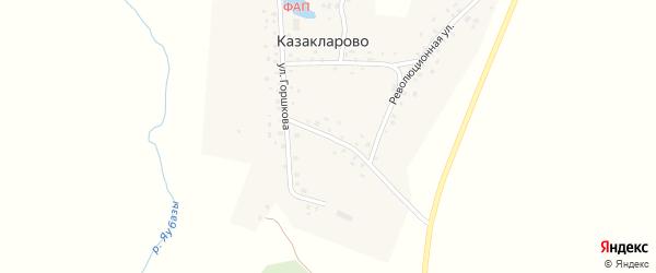 Механизаторская улица на карте села Казакларово с номерами домов