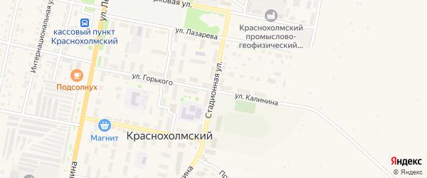 Стадионная улица на карте села Краснохолмского с номерами домов