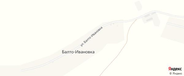 Улица Балто-Ивановка на карте деревни Балто-Ивановки с номерами домов