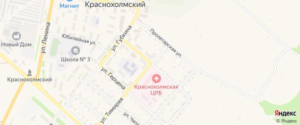 Октябрьская улица на карте села Краснохолмского с номерами домов