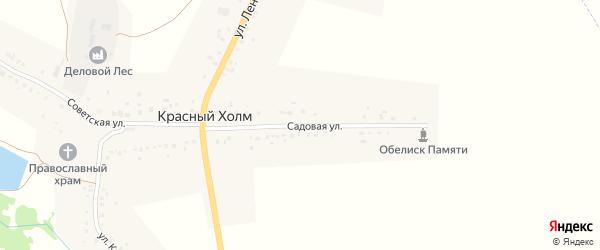 Садовая улица на карте села Красного Холма с номерами домов