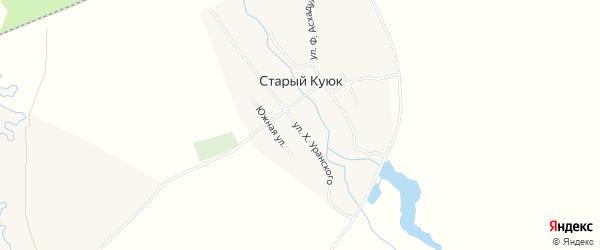 Карта села Старого Куюка в Башкортостане с улицами и номерами домов