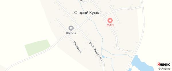 Южная улица на карте села Старого Куюка с номерами домов