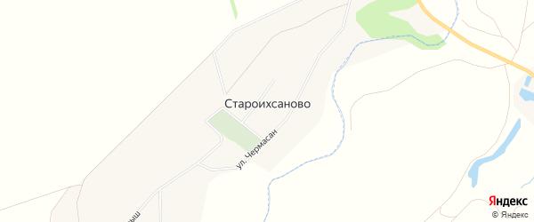Карта села Староихсаново в Башкортостане с улицами и номерами домов