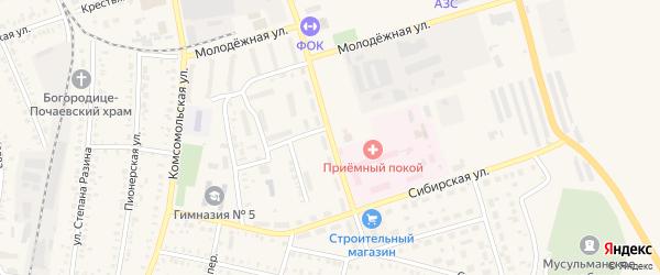 Заводская улица на карте Давлеканово с номерами домов