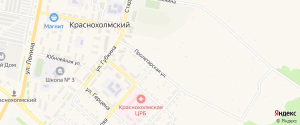 Пролетарская улица на карте села Краснохолмского с номерами домов