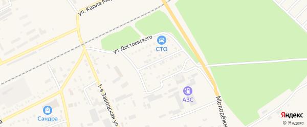Улица Достоевского на карте Давлеканово с номерами домов