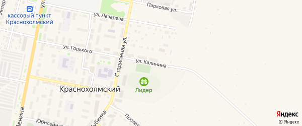 Улица Калинина на карте села Краснохолмского с номерами домов