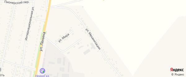 Улица Механизации на карте села Краснохолмского с номерами домов