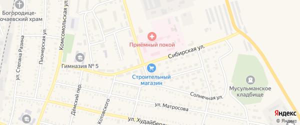 Сибирская улица на карте Давлеканово с номерами домов