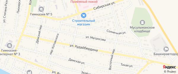 Улица Матросова на карте Давлеканово с номерами домов