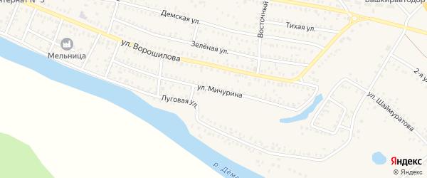 Улица Мичурина на карте Давлеканово с номерами домов