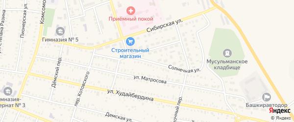 Солнечная улица на карте Давлеканово с номерами домов