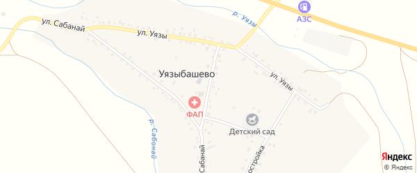 Центральная улица на карте села Уязыбашево с номерами домов