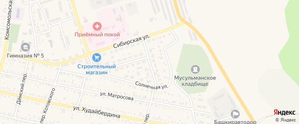 Большая Восточная улица на карте Давлеканово с номерами домов