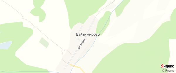 Карта деревни Байтимирово в Башкортостане с улицами и номерами домов