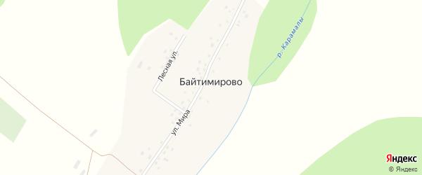 Улица Мира на карте деревни Байтимирово с номерами домов