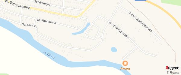 Вторая Луговая улица на карте Давлеканово с номерами домов