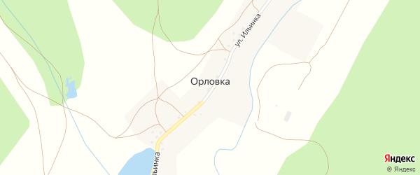 Улица Ильинка на карте деревни Орловки с номерами домов