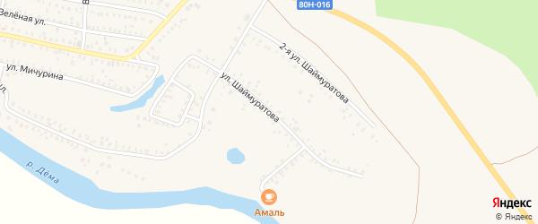 Улица Шаймуратова на карте Давлеканово с номерами домов