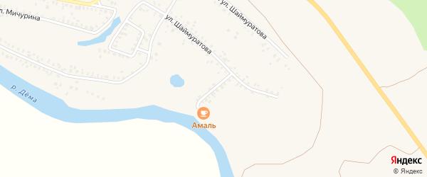 Рыбный переулок на карте Давлеканово с номерами домов