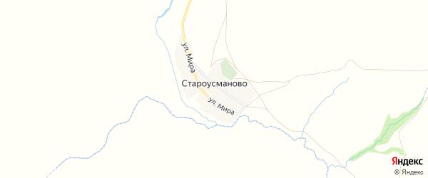 Карта деревни Староусманово в Башкортостане с улицами и номерами домов