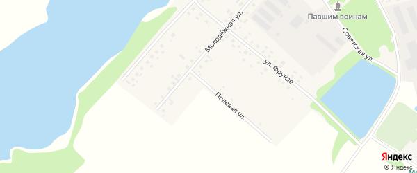 Полевая улица на карте села Староянтузово с номерами домов