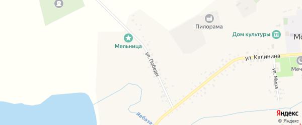 Улица Победы на карте села Москово с номерами домов
