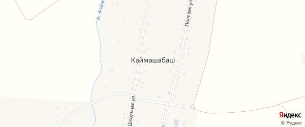 Школьная улица на карте села Каймашабаша с номерами домов