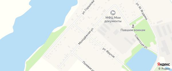 Молодежная улица на карте села Староянтузово с номерами домов