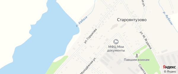 Улица Горшкова на карте села Староянтузово с номерами домов