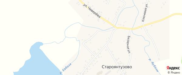 Набережная улица на карте села Староянтузово с номерами домов