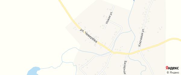 Улица Чеверева на карте села Староянтузово с номерами домов