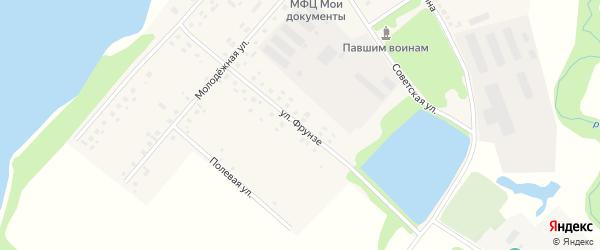 Улица Фрунзе на карте села Староянтузово с номерами домов