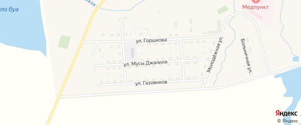 Улица Мусы Джалиля на карте села Москово с номерами домов